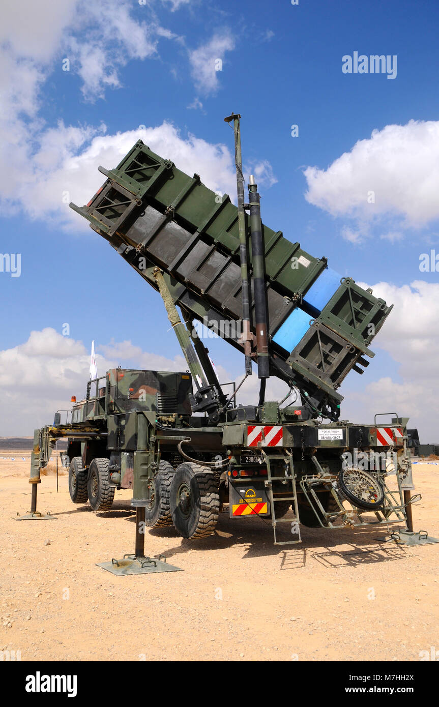 Israeli Defence Forces Patriot PAC-3 air defense system Stock Photo
