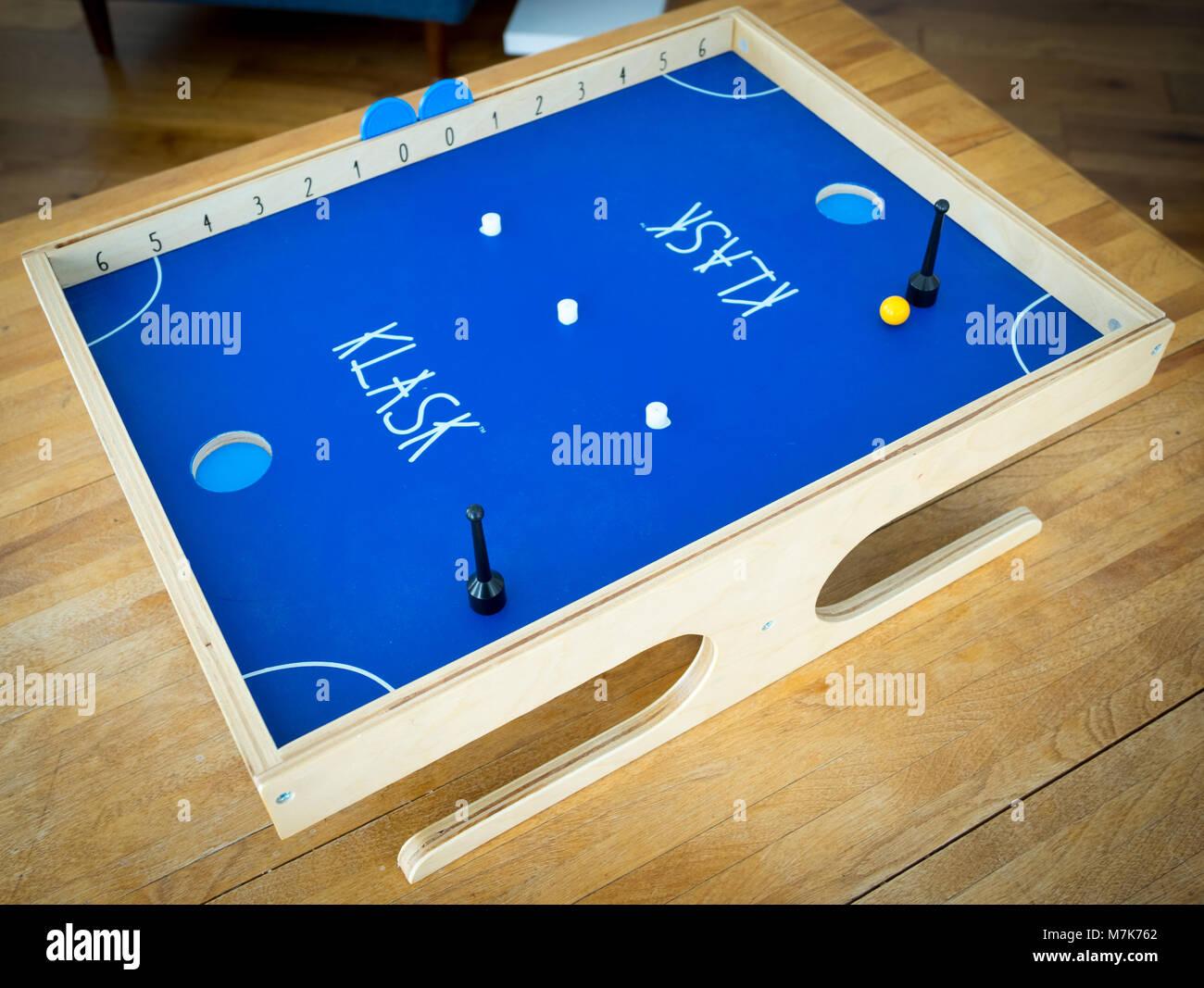 A Klask game board.  Klask is a popular pub game from Denmark. - Stock Image