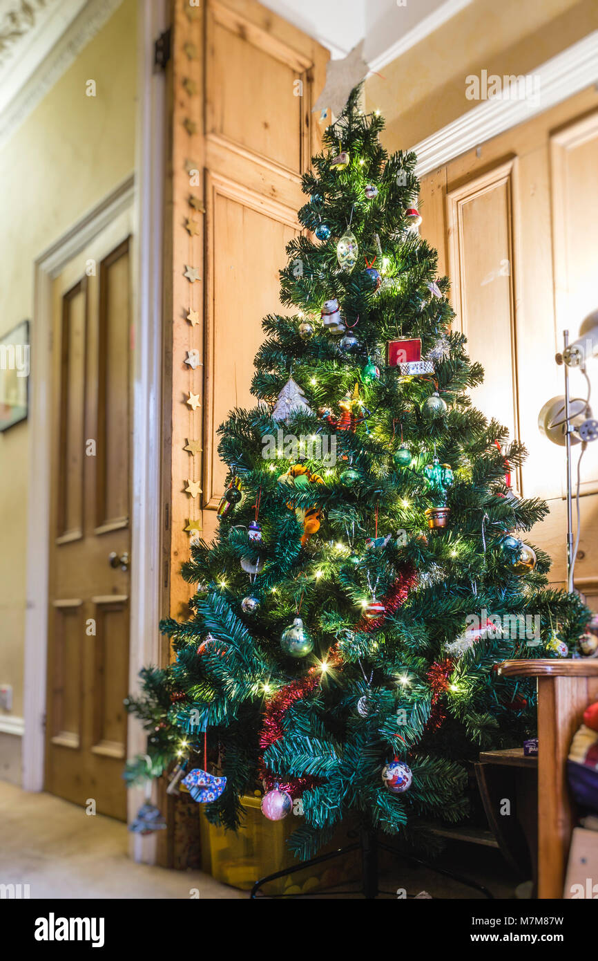 Artificial Christmas Tree Lights Stock Photos & Artificial Christmas ...
