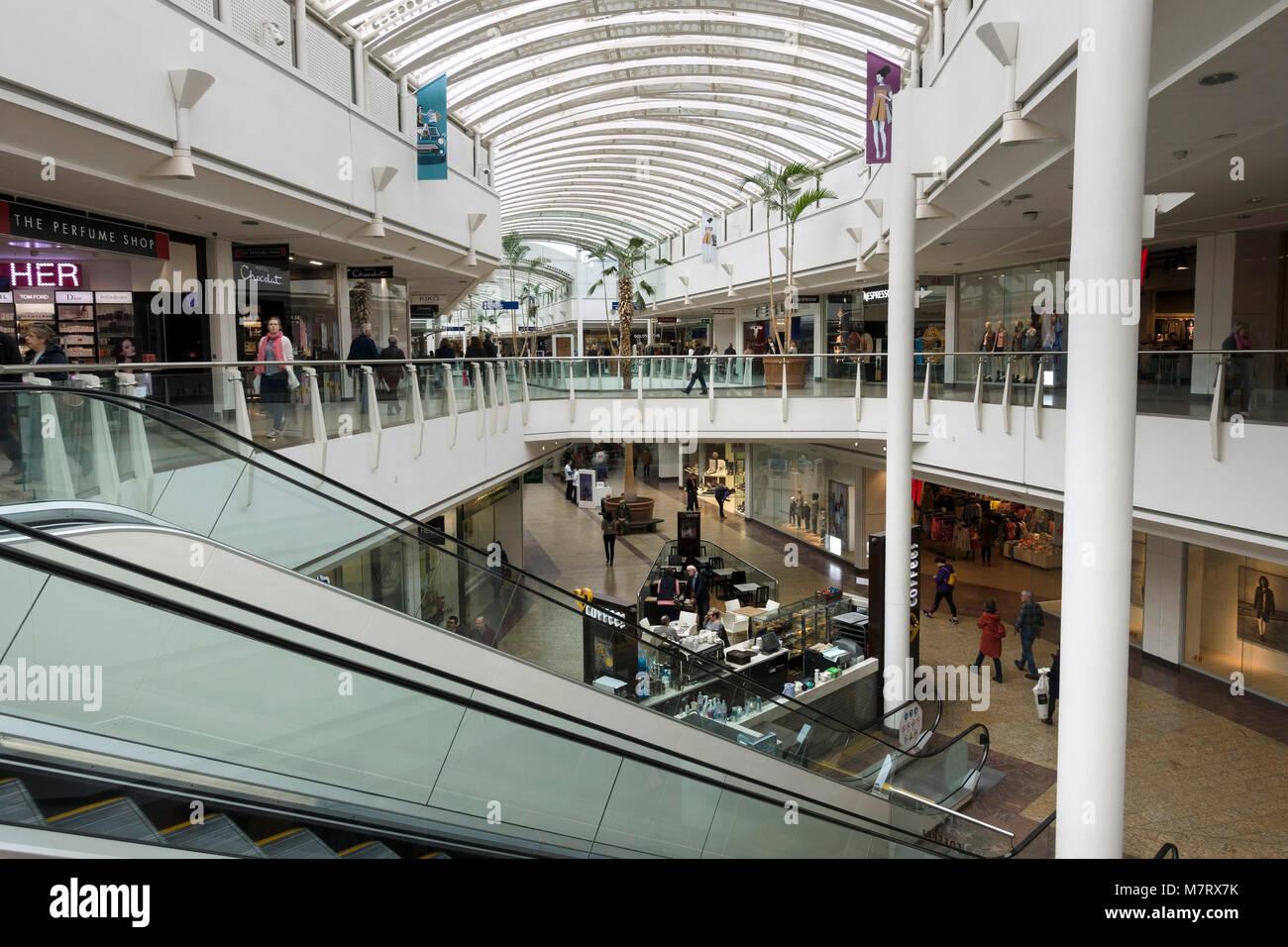 5e98a39f13a9 Interior of The Mall, Cribbs Causeway shopping centre, Bristol, England, UK