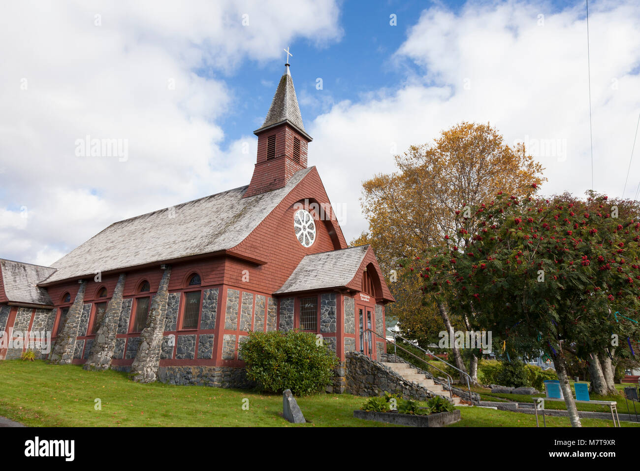 Sitka, Alaska: St. Peter's by-the-Sea Episcopal Church, Gothic Revival - Stock Image
