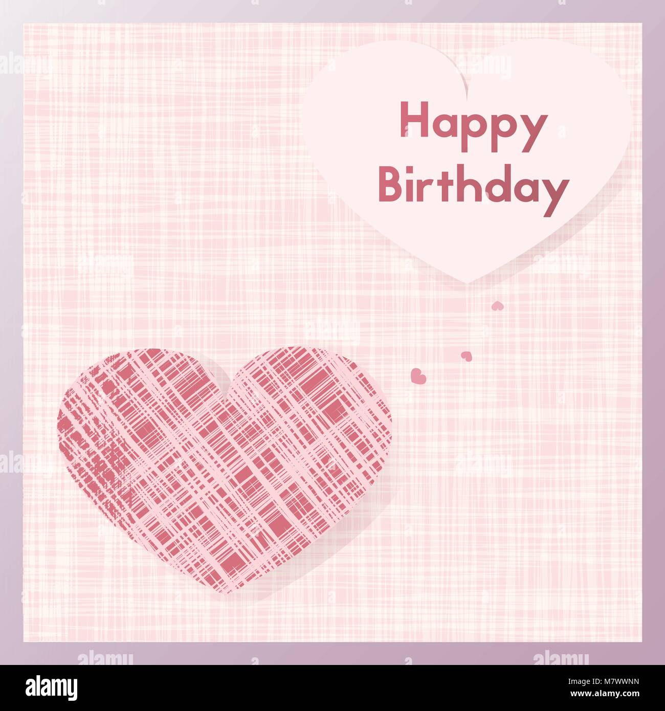 Birth Gift Greeting Card For Lovers Postcard In Pastel Pink Vector Illustration Ecard Textiles The Shape Of A Heart Happy Birthday