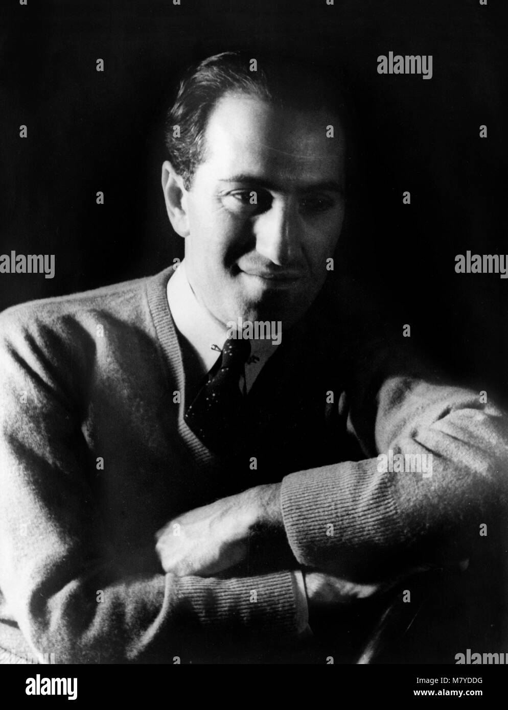George Gershwin (1898-1937), portrait of the American composer by Carl Van Vechten, 1937 - Stock Image