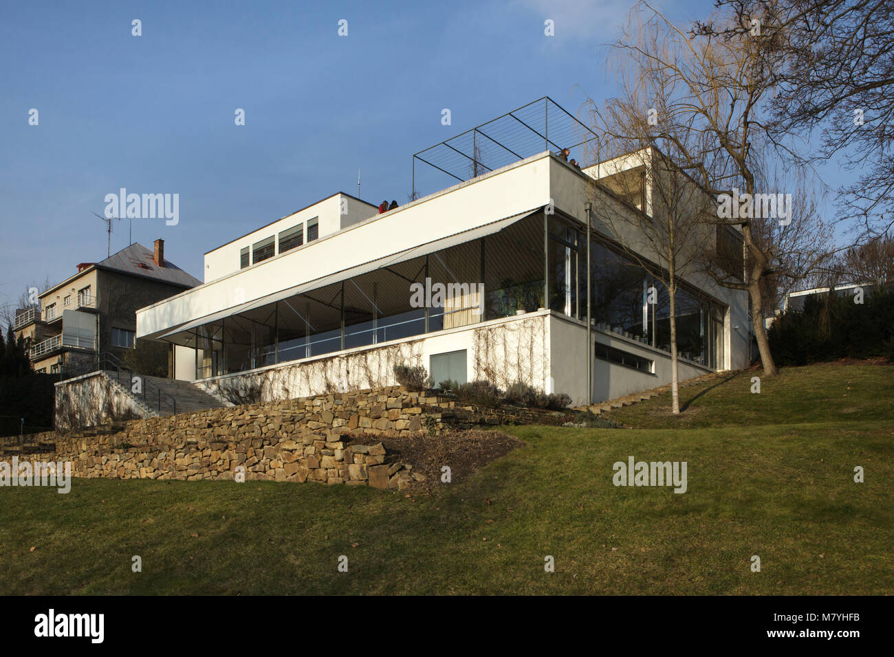 Villa Tugendhat villa tugendhat in brno republic pictured from the garden