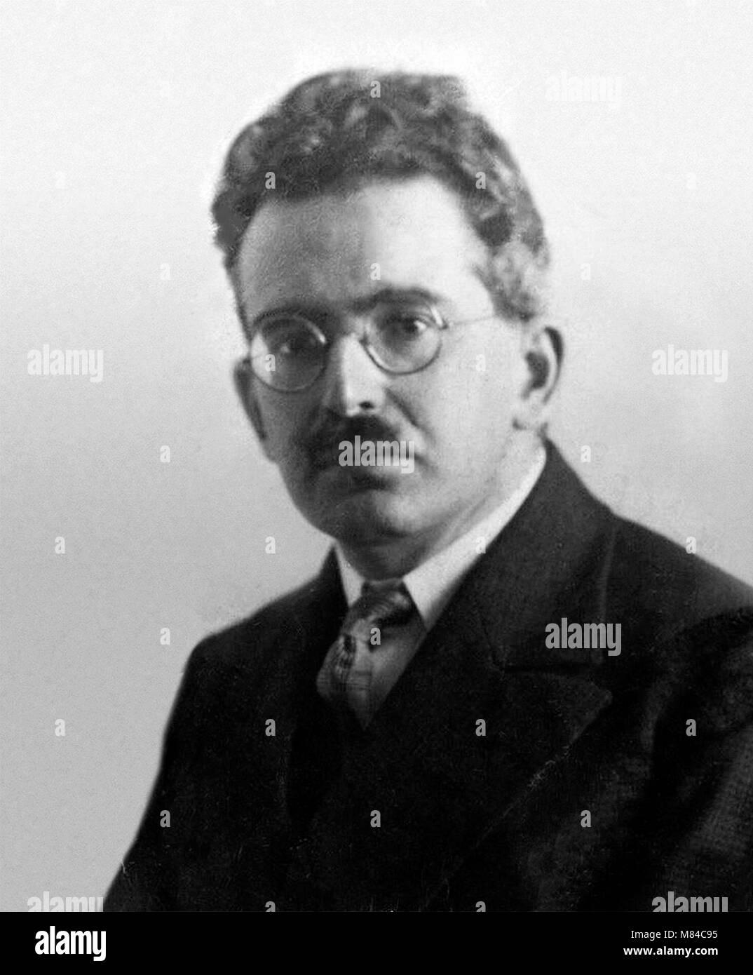 Walter Benjamin (1892-1940). Portrait of the German philosopher Walter Bendix Schönflies Benjamin, 1928. - Stock Image