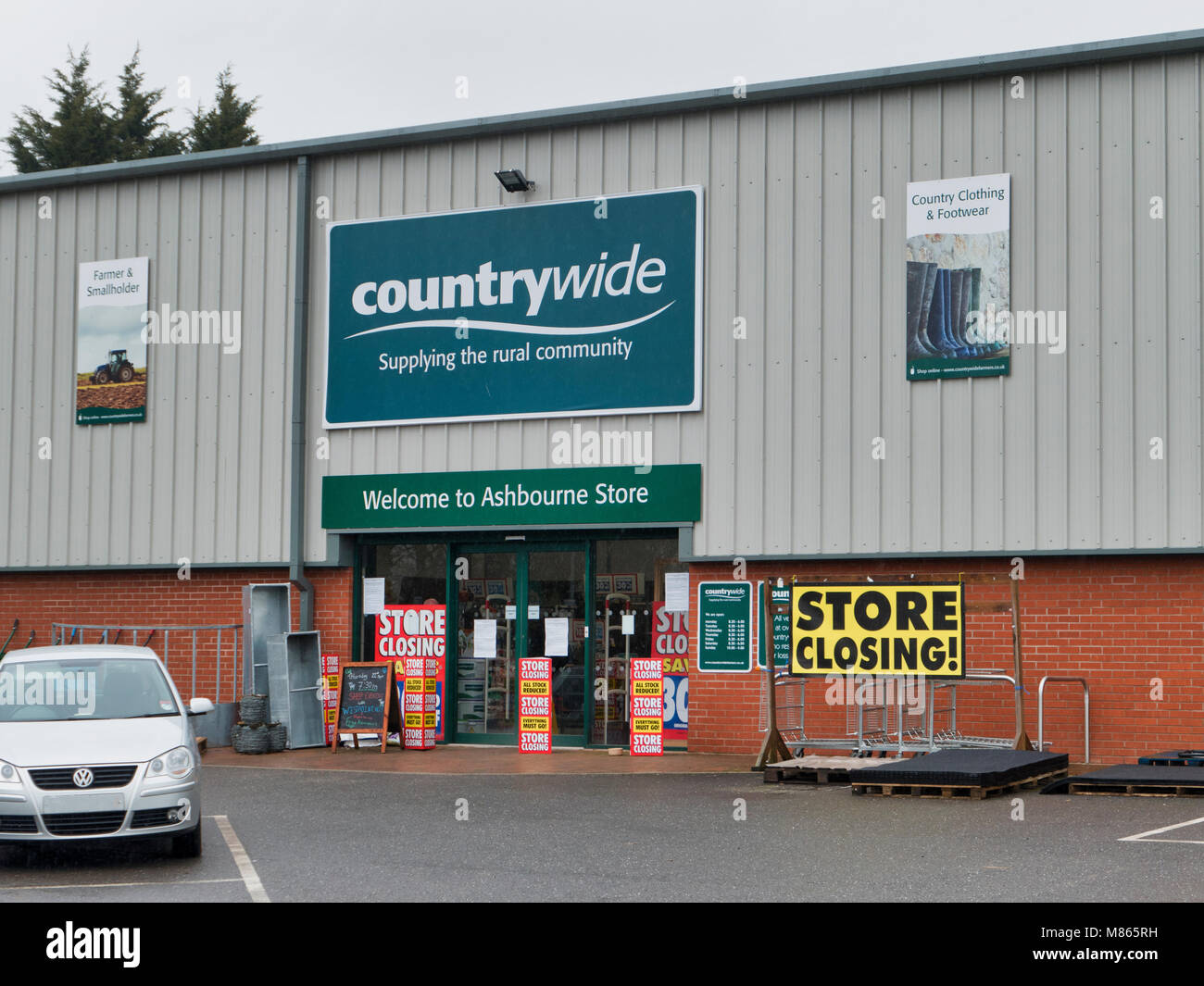 Ashbourne, Derbyshire, UK. 15th March, 2018. News: Counrtywide Farmers stores go into liquidation & the receivers - Stock Image