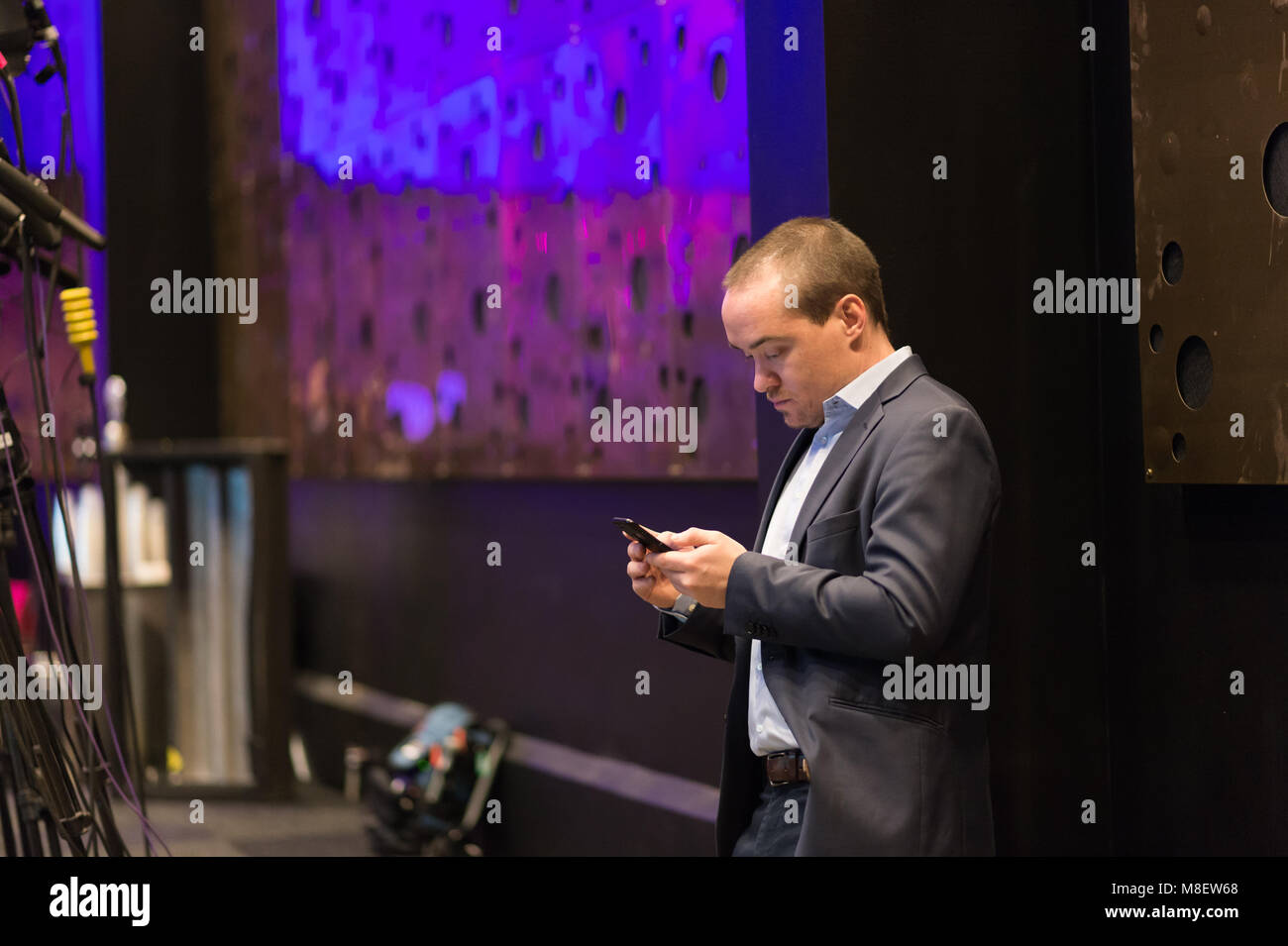 Stockholm, Sweden, March 17, 2018. Sweden Democrats (SD) Election Conference 2018. On Saturday morning, Kent Ekeroth's - Stock Image