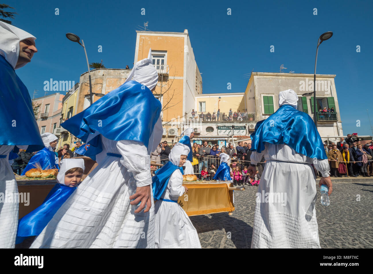 PROCIDA, ITALY - MARCH 25, 2016 - The procession of 'Misteri' celebrated at Easter's Good Friday in - Stock Image