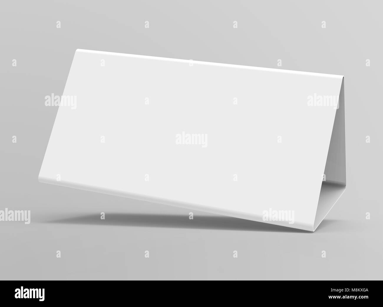 blank table tent 3d render table card mockup for design uses stock