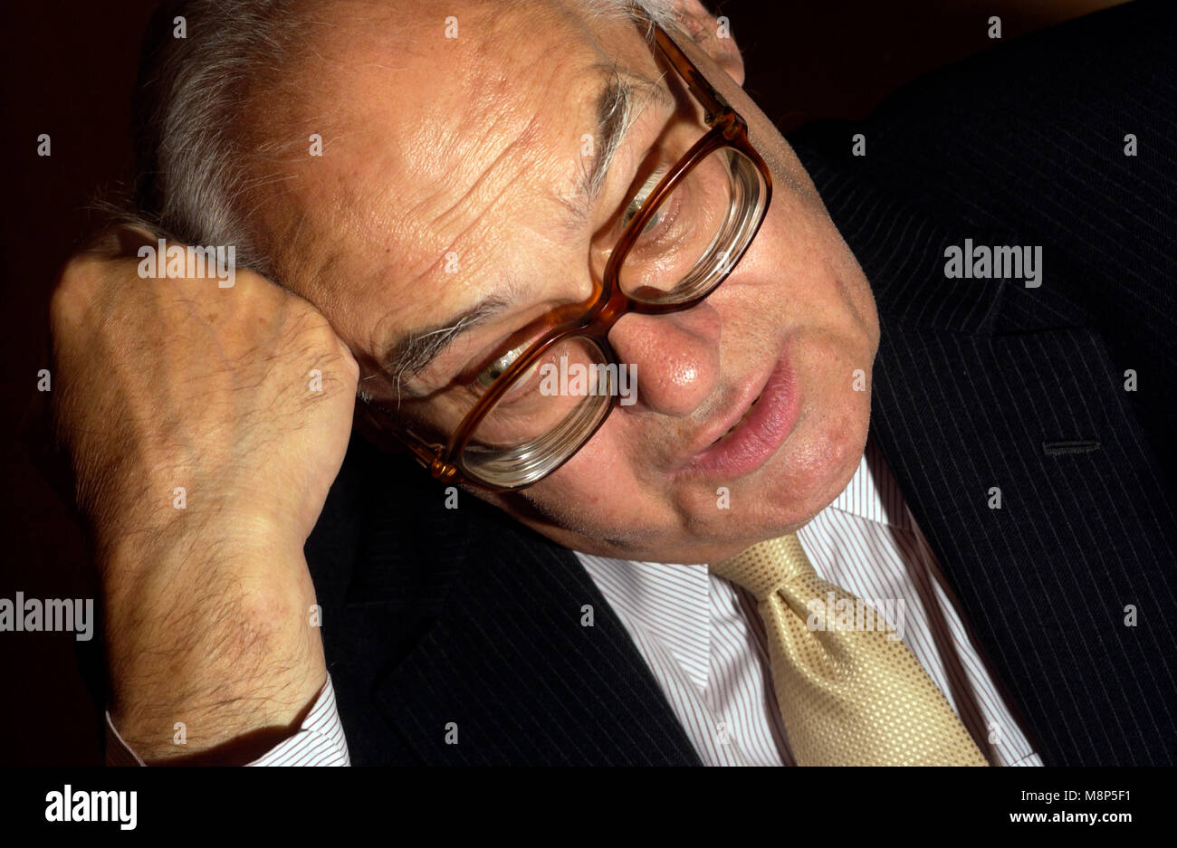 Lord Richard of Ammanford Labour peer pictured in 2003, died 18th March 2018 - Stock Image