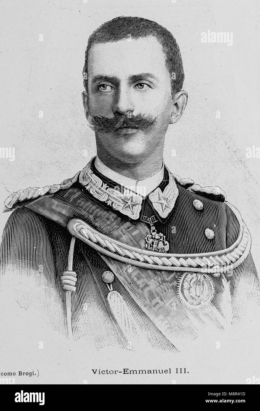 King Victor Emmanuel III of Italy, Picture from the French weekly newspaper l'Illustration, 4th August 1900 - Stock Image
