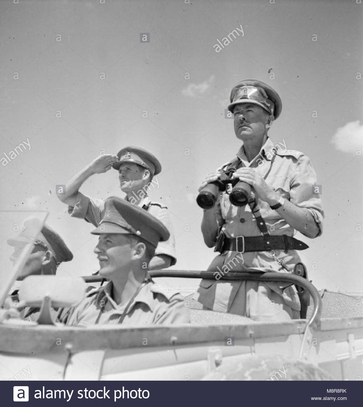 The Campaign in North Africa 1940-1943- Personalities General the Hon Sir Harold Alexander as Commander-in-Chief, - Stock Image