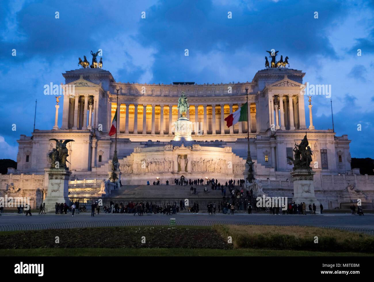 Altare della Patria or Monumento Nazionale a Vittorio Emanuele II 'National Monument to Victor Emmanuel II', - Stock Image