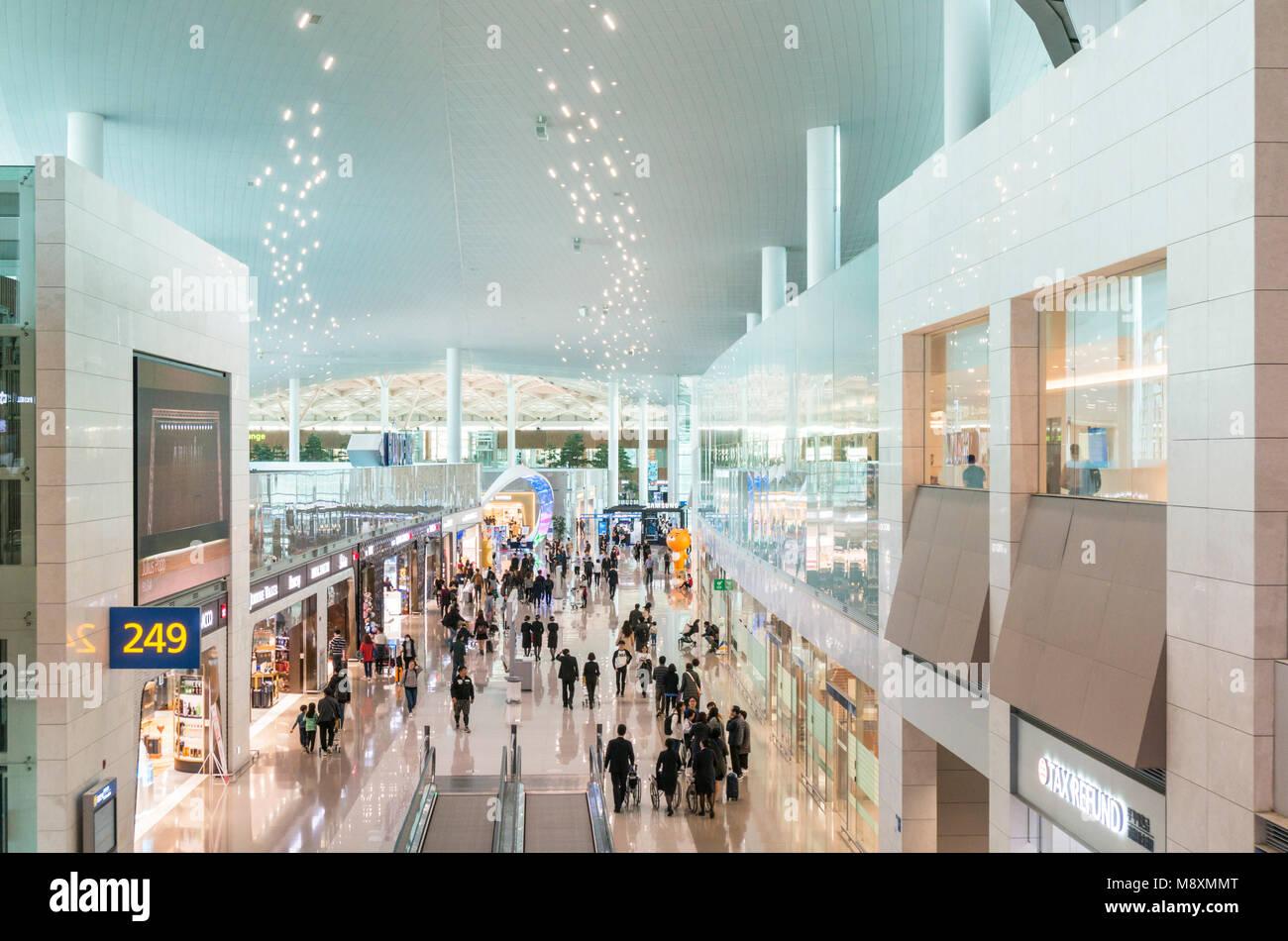 South korea seoul south korea seoul incheon airport terminal 2 seoul airport south korea asia - Stock Image