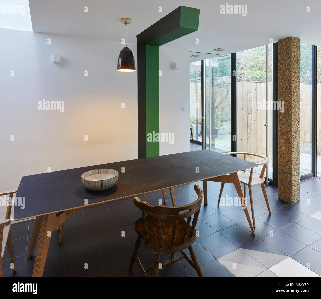 Overall interior view. Sean Griffiths, London, United Kingdom. Architect: Sean Griffiths , 2018. - Stock Image