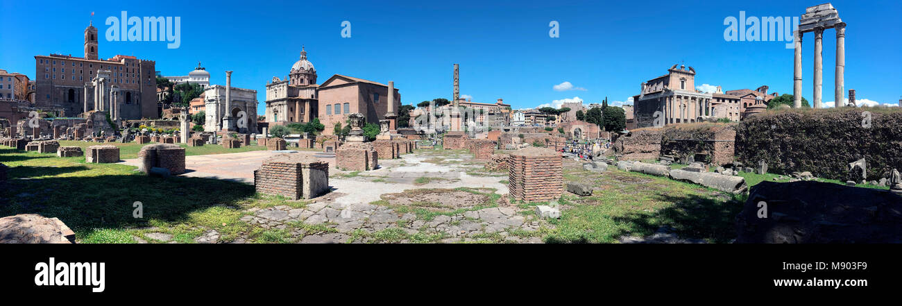 Roman Forum in the city of Rome, Italy. - Stock Image