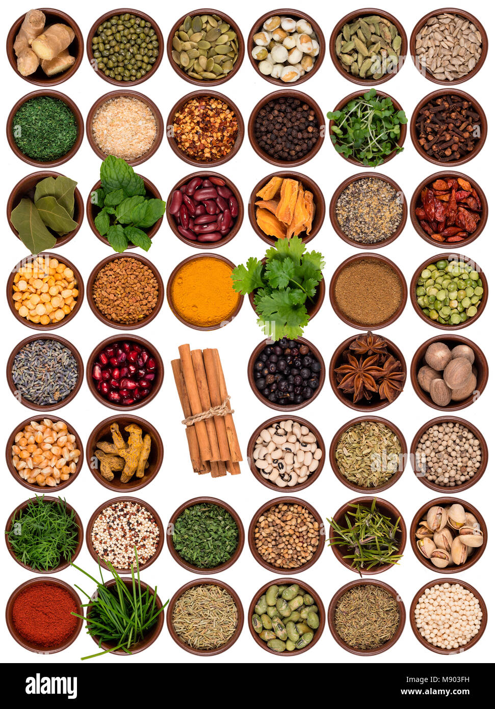 Selection of cooking ingredients to add flavor and seasoning. - Stock Image