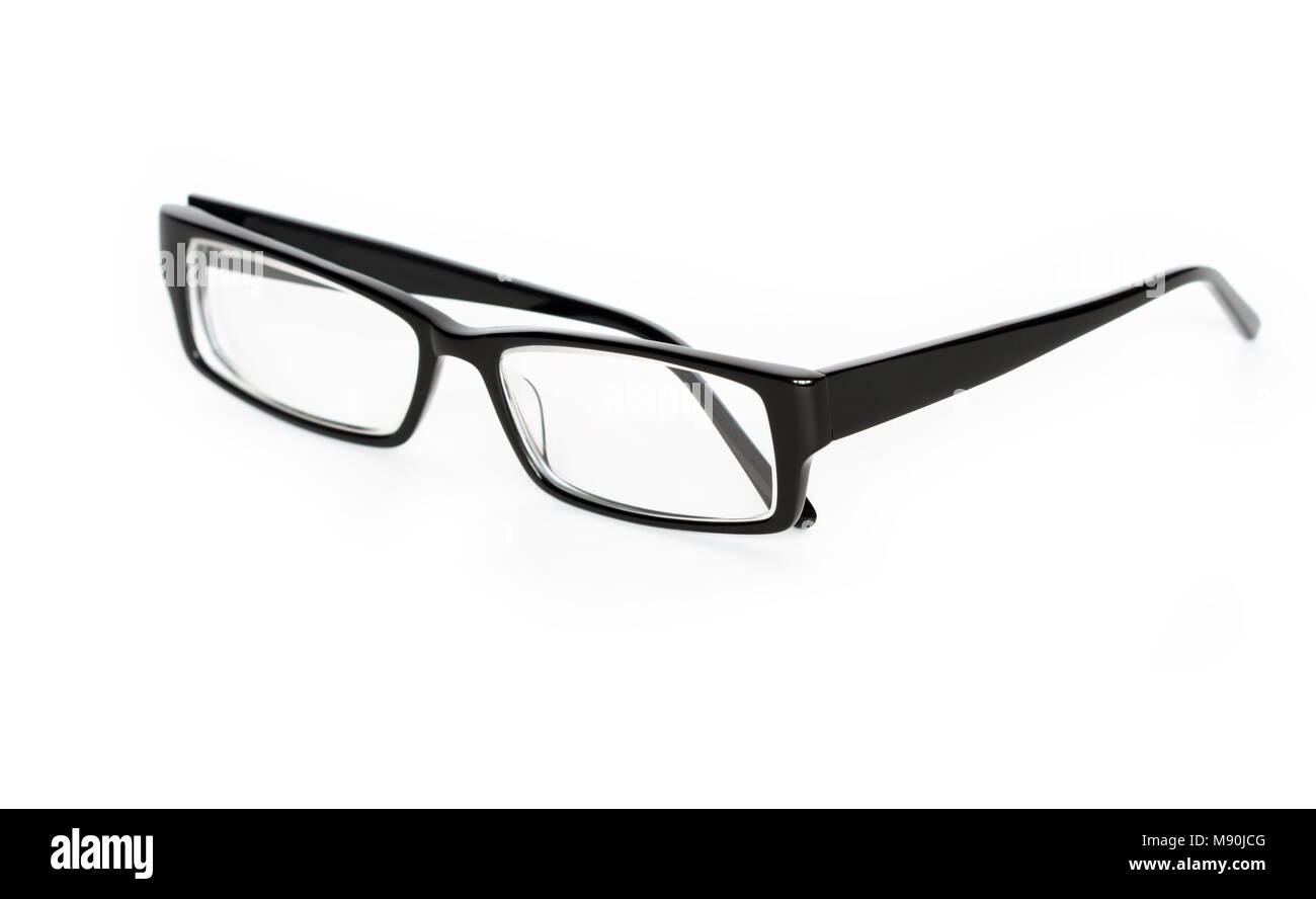 3b5ca0c1b04b Modern black eyeglasses isolated on white background Stock Photo ...