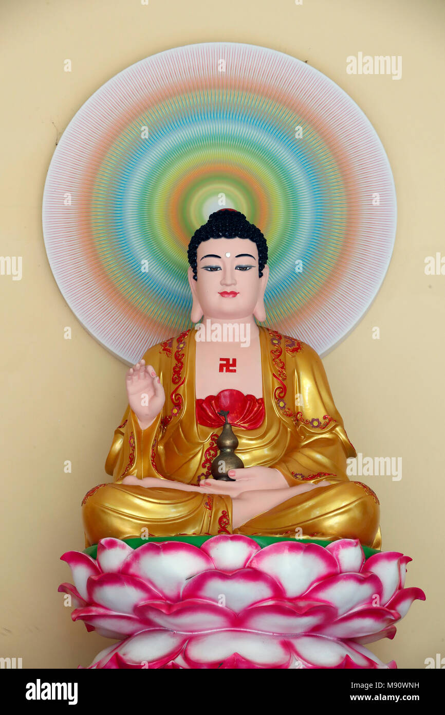 Chua tu quang buddhist temple seated buddha shakyamuni on lotus chua tu quang buddhist temple seated buddha shakyamuni on lotus flower vung tau vietnam izmirmasajfo