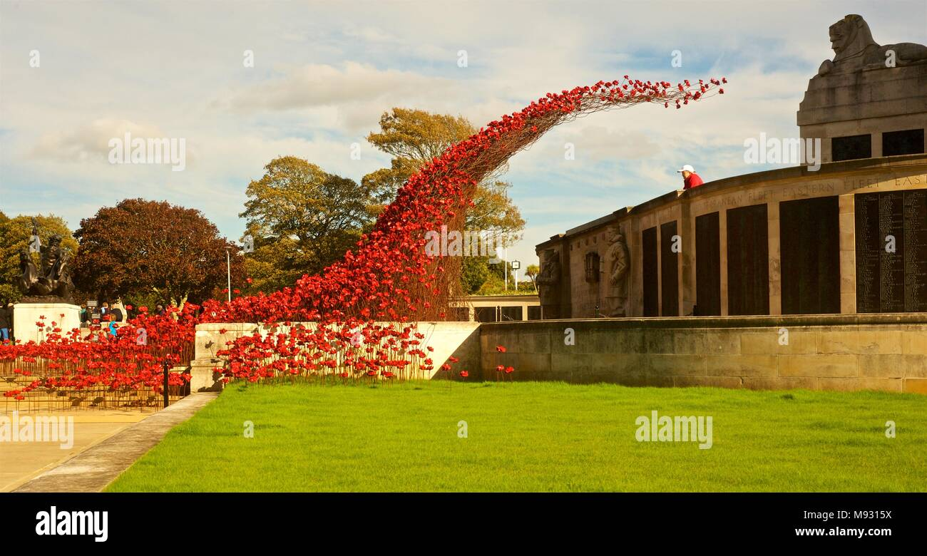 Poppy Waterfall installation at Plymouth, England. UK tour of ...