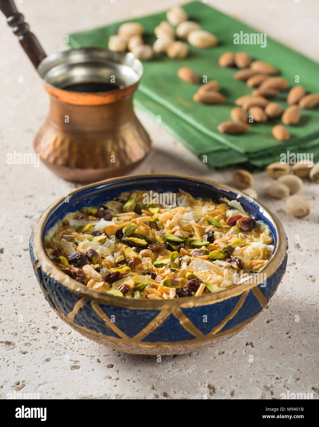 Umm Ali. Egyptian dessert. Egypt Food - Stock Image