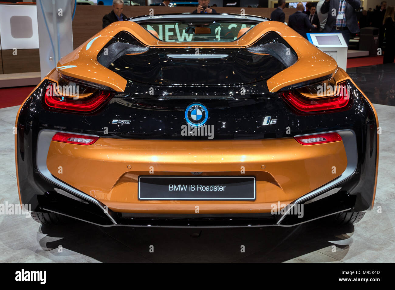 Geneva Switzerland March 7 2018 Rear View Of A Bmw I8 Roadster