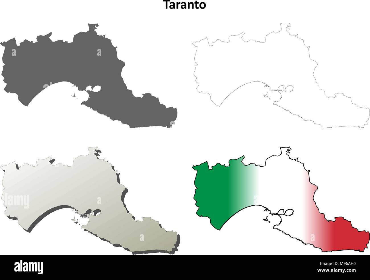 Taranto Map Stock Photos Taranto Map Stock Images Alamy