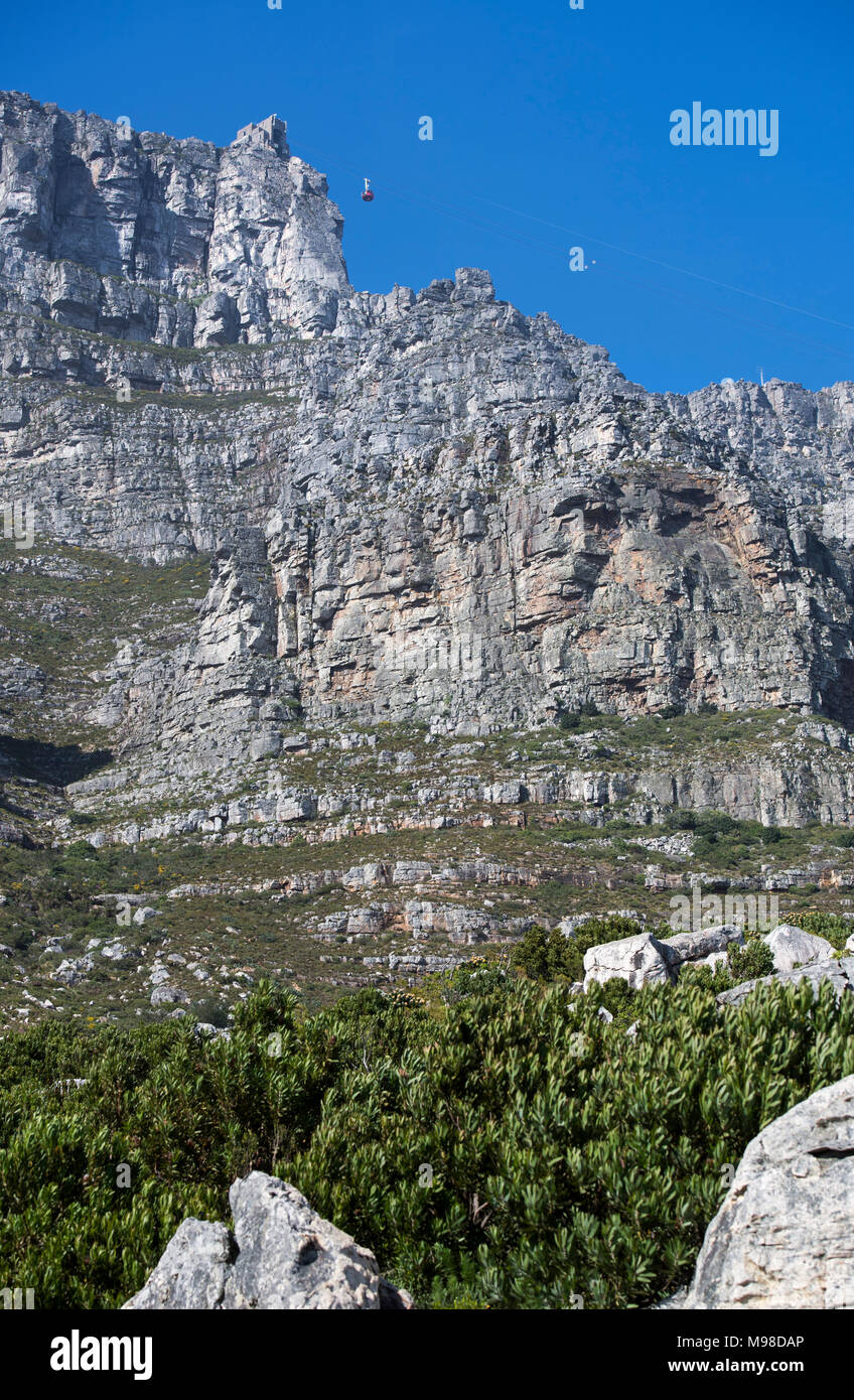 Table Mountain cable car in Cape Town, South Africa - Stock Image