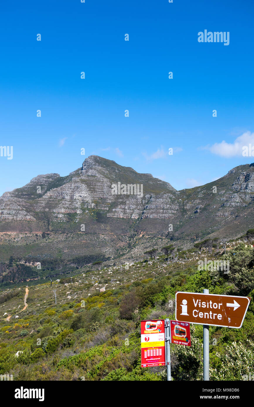 Landscape around Table Mountain in Cape Town, South Africa - Stock Image