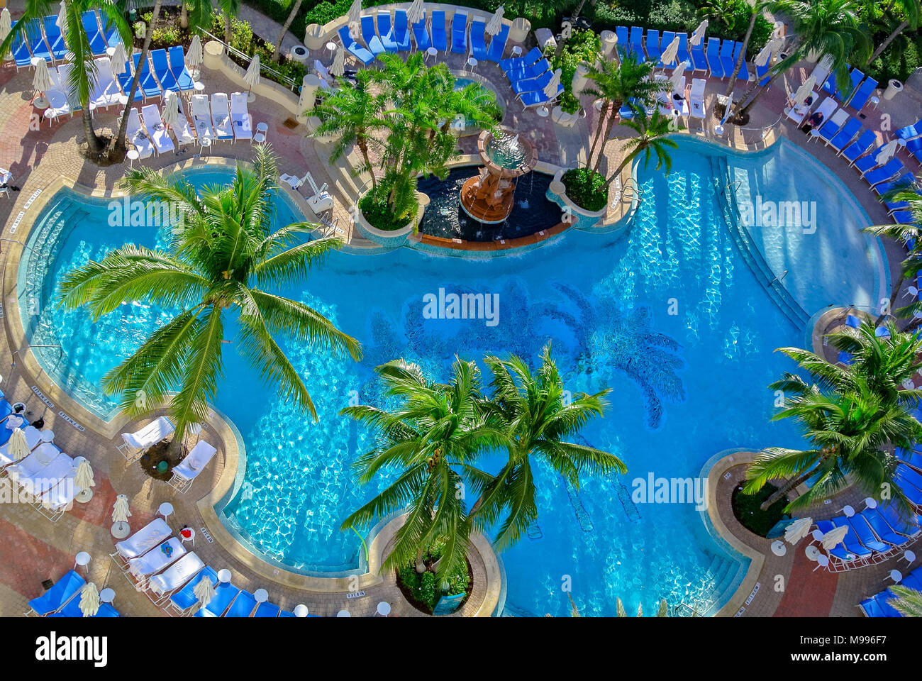 swimming pool at Loews Miami Beach Hotel, miami, usa, united states of america Stock Photo