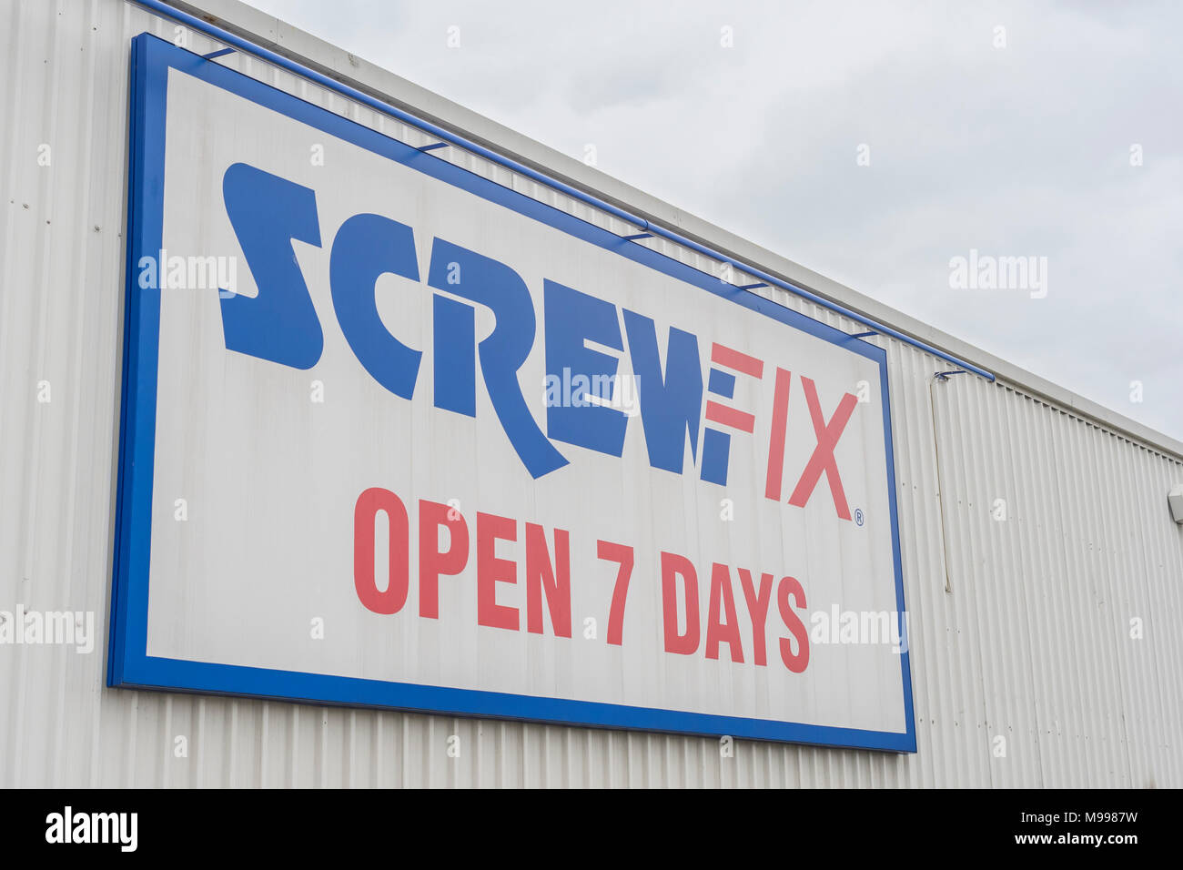 Exterior of Plymouth depot for Screwfix. - Stock Image