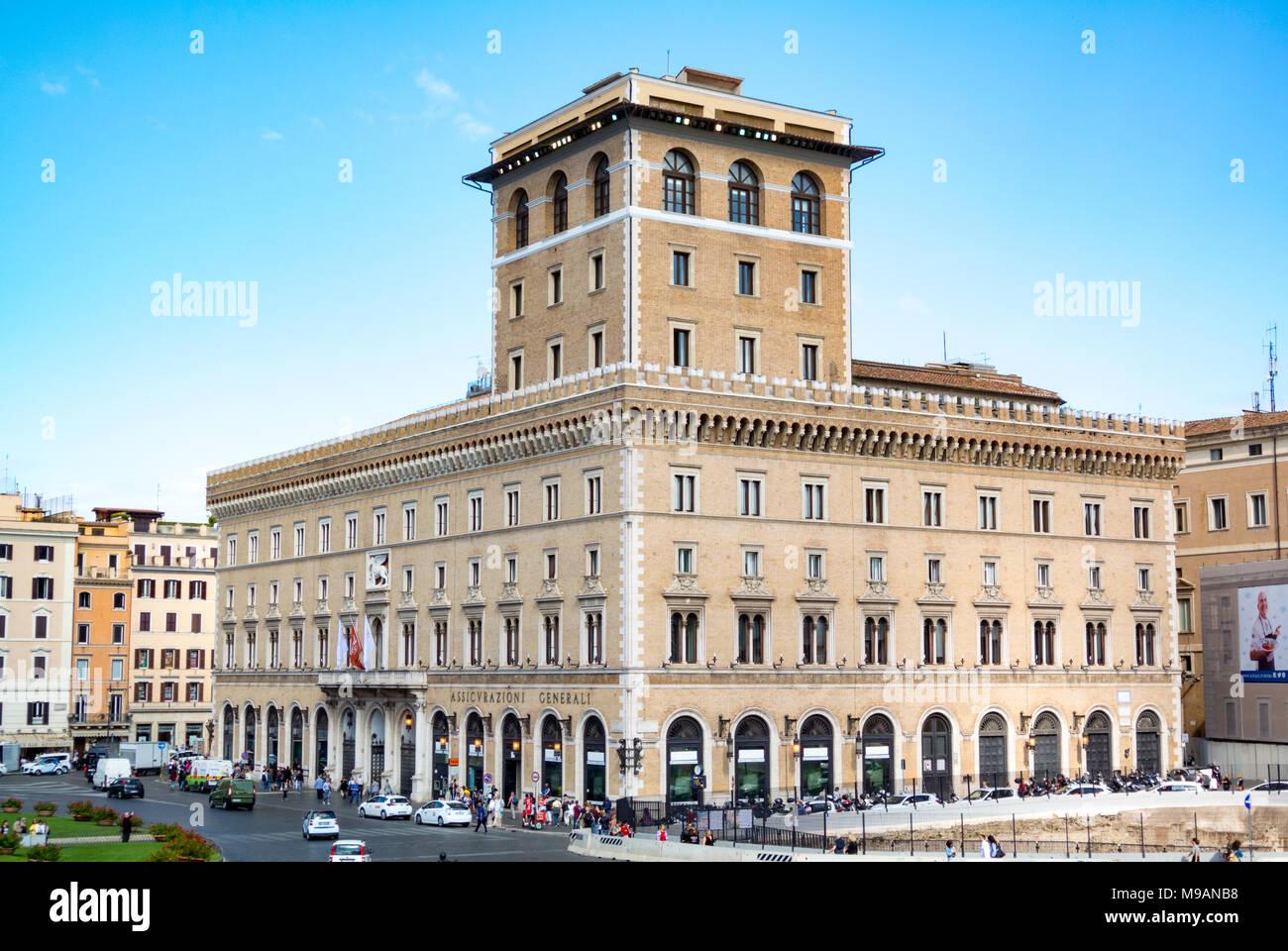 Assicurazioni Generali Palace, piazza venezia, rome, italy Stock Photo