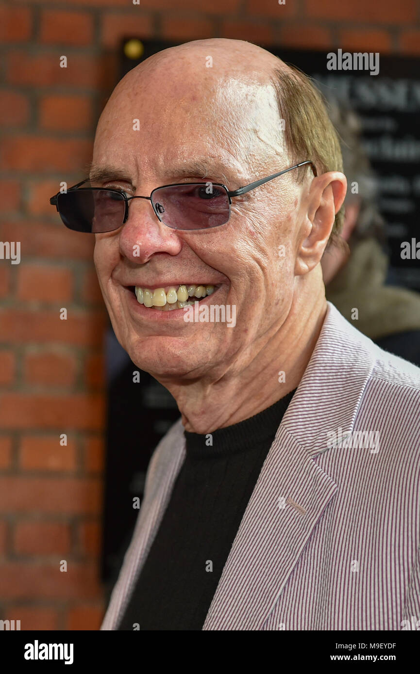 Aylesbury, United Kingdom. 25 March 2018. A David Bowie statue has been unveiled in Aylesbury. The statue was conceived by David Stopps who raised the £100,000 to complete the project. The sculptor, Andrew Sinclair, was also at the unveiling. Pictured: David Stopps  Credit: Peter Manning/Alamy Live News - Stock Image