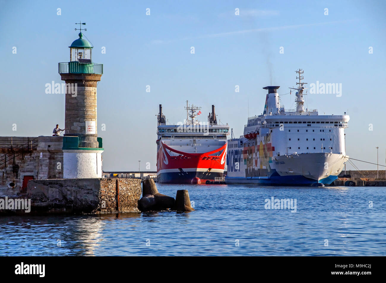 Moby Ferries Moby Zaza Moored In Port Of Bastia Corsica France