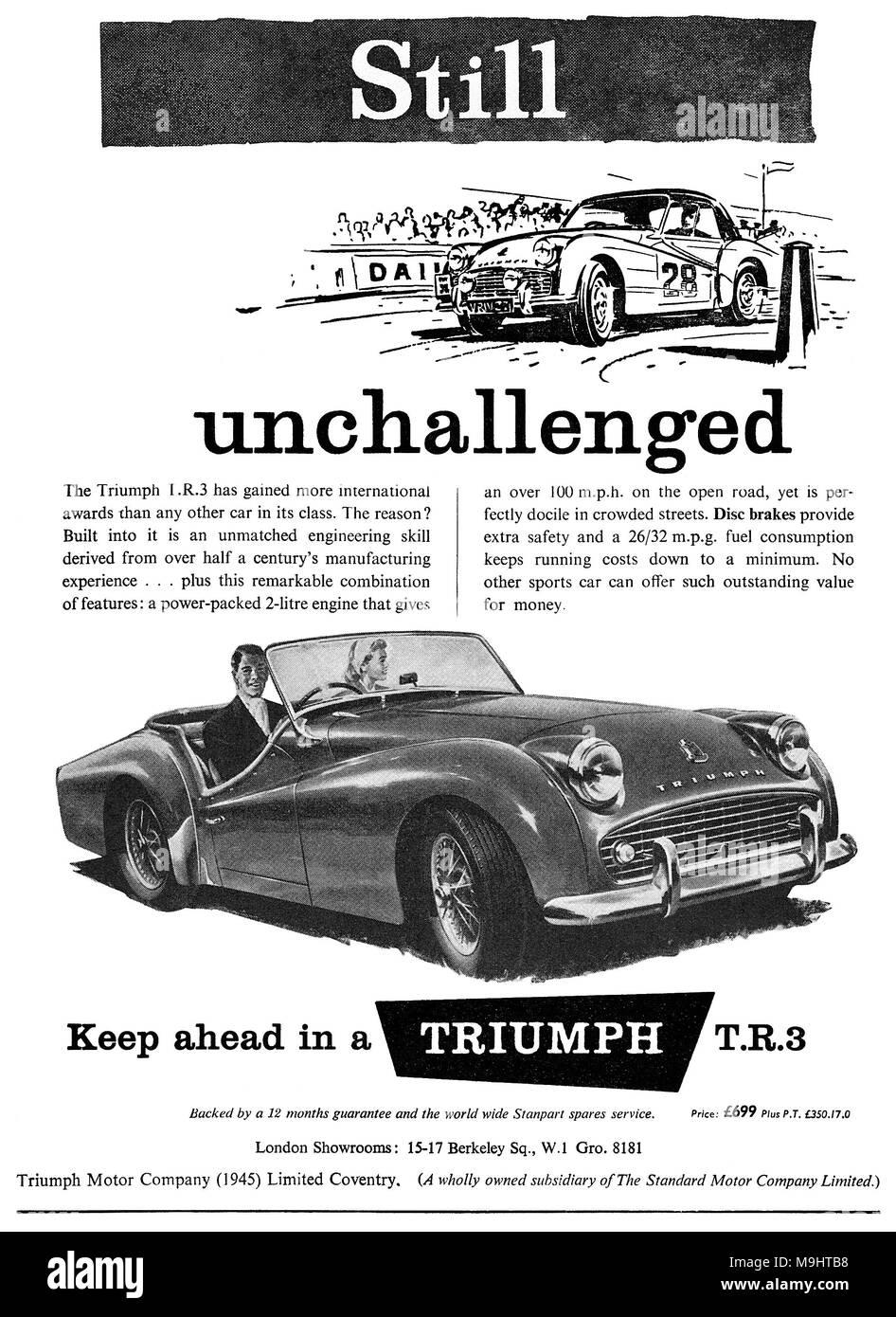 Car Advertising 1950s Stock Photos & Car Advertising 1950s Stock ...