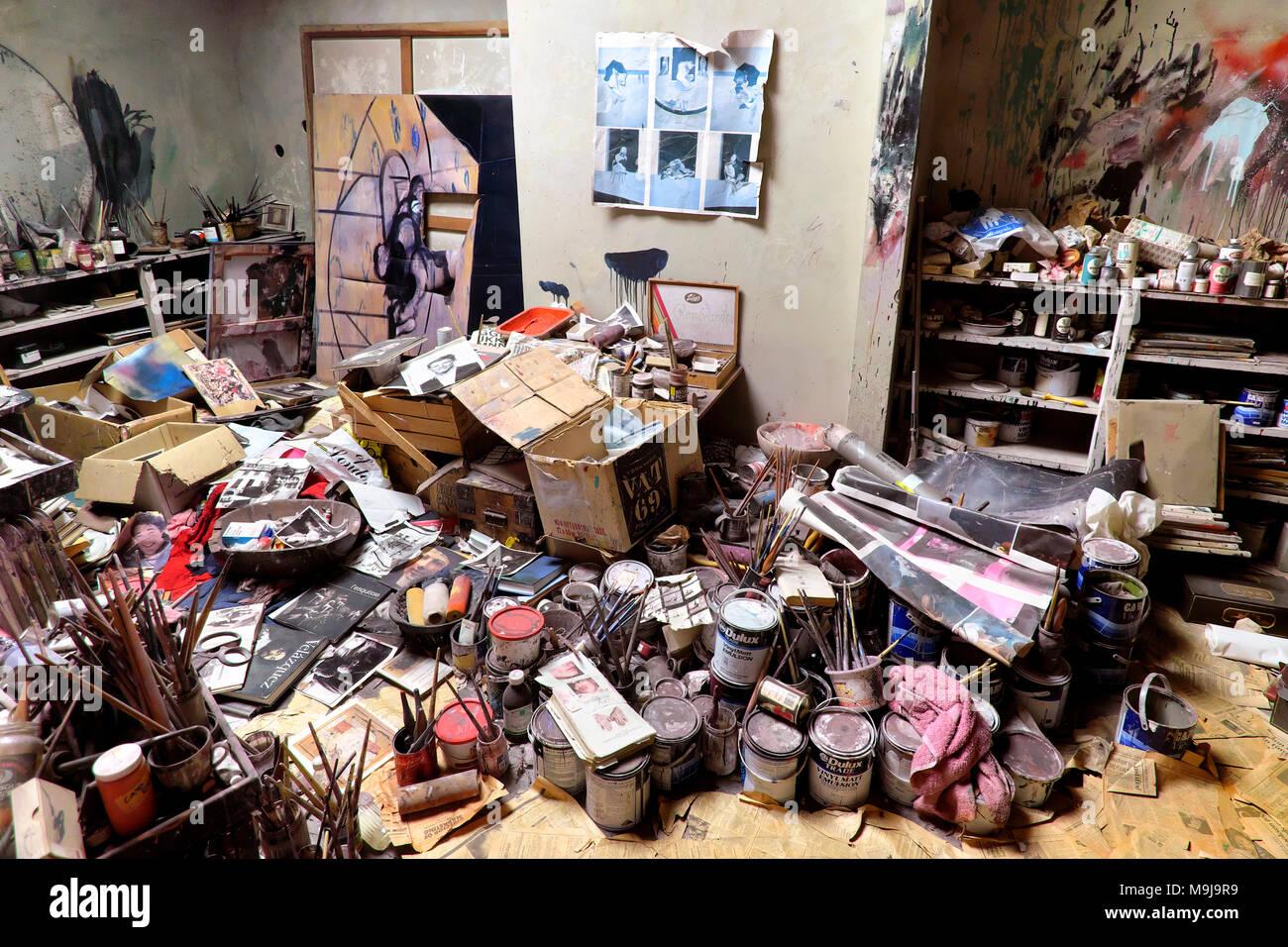 Francis Bacon Studio - reconstructed studio of painter Francis Bacon, Dublin City Gallery The Hugh Lane, Dublin, IrelandStock Photo