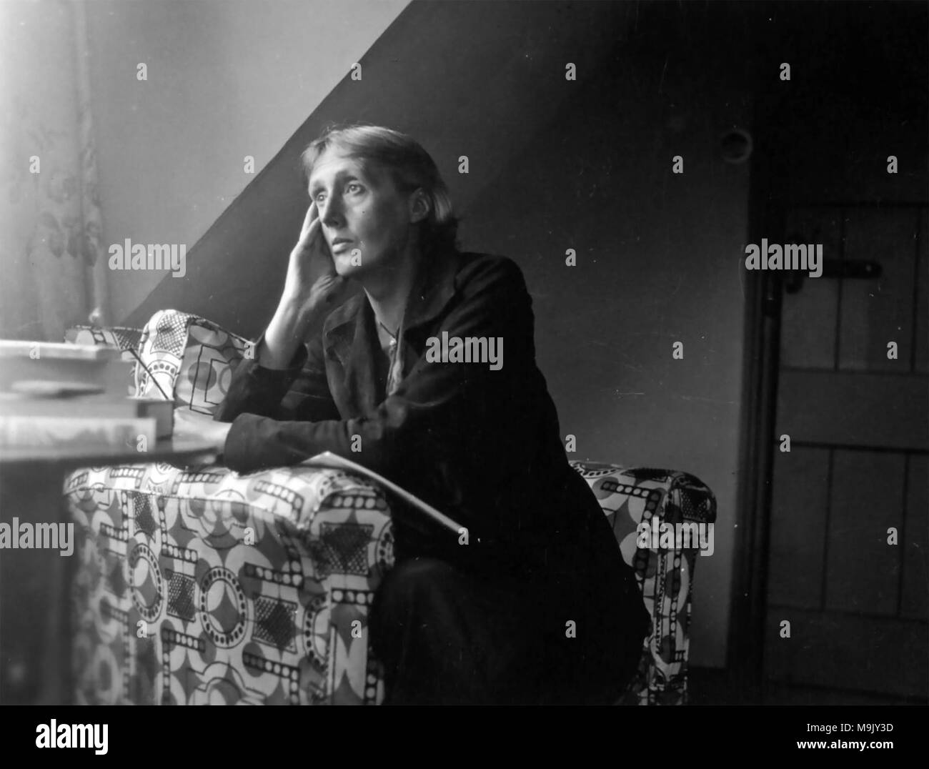 VIRGINIA WOOLF (1882-1941) English novelist about 1928 Stock Photo