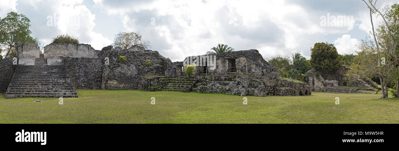 Kohunlich, archaeological site of the pre-Columbian Maya civilization near Chetumal - Stock Image