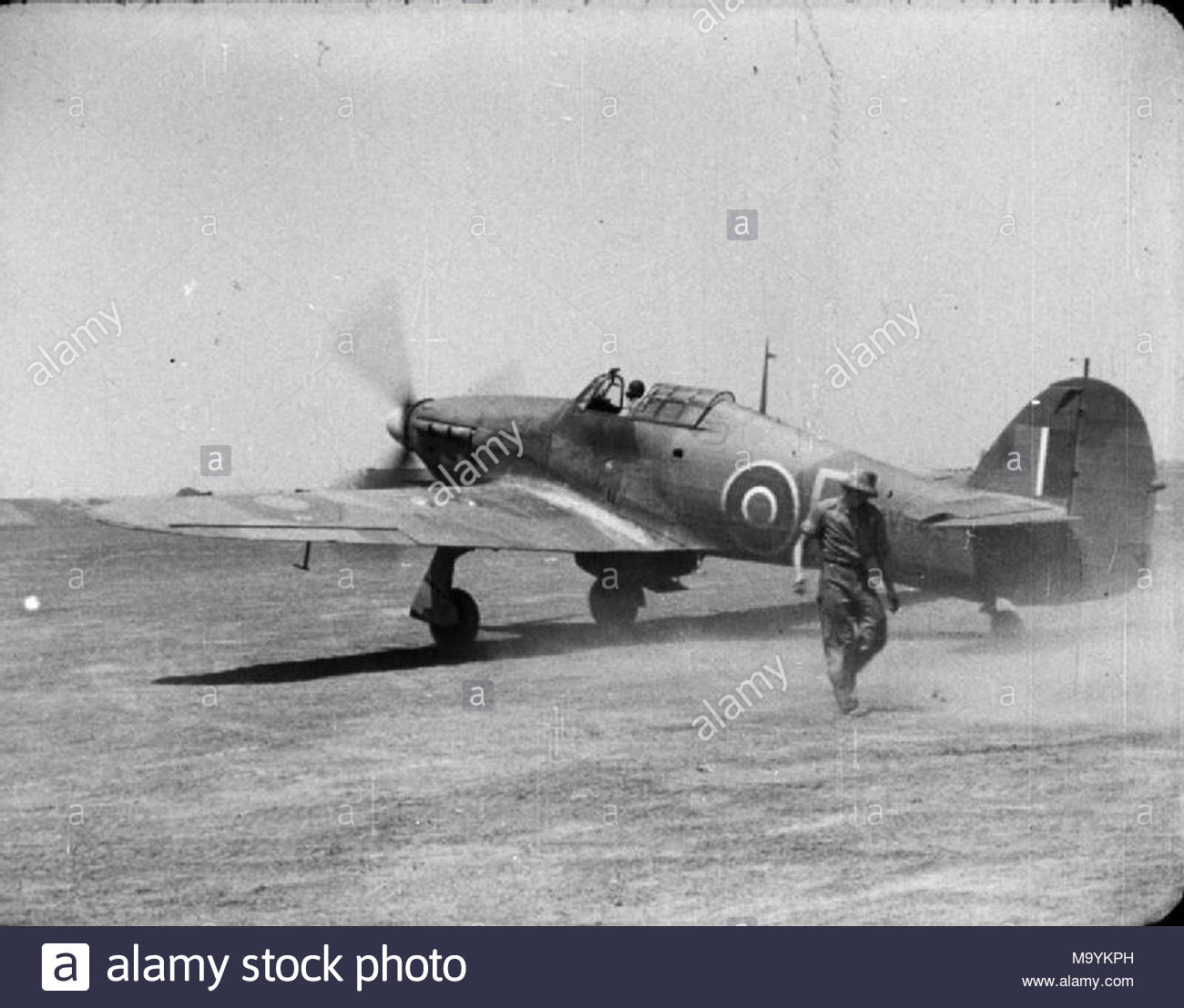 Royal Air Force Operations In The Far East 1941 1945 Hawker Hurricane Mark IIC HV843 Of No 79 Squadron RAF Taxying At An Airfield India