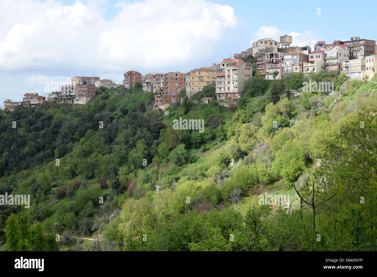 A general view of a village in Kabylie, Tizi ouzou, Algeria - Stock Image