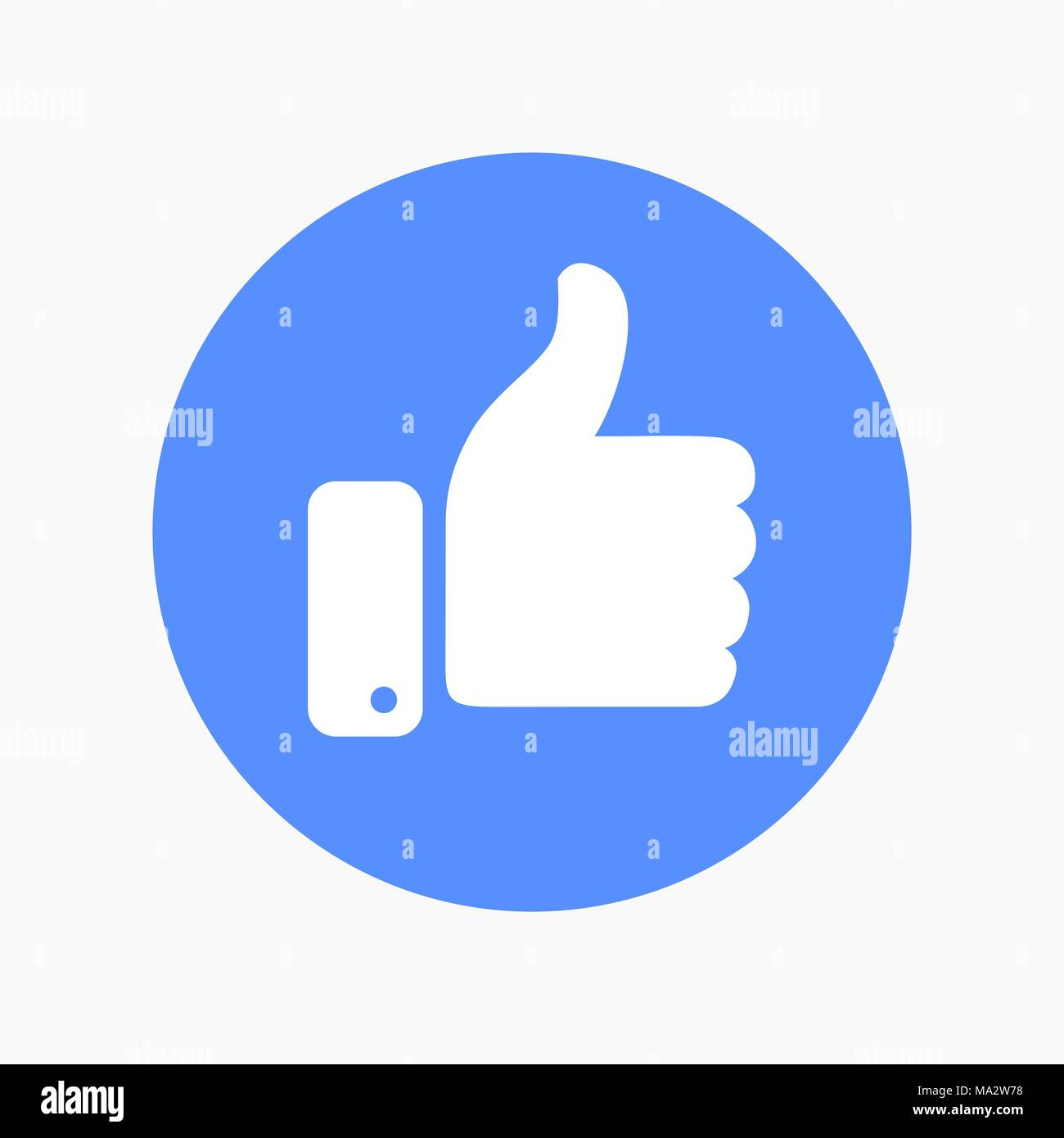 Thumb Up Symbol Finger Up Icon Vector Illustration Like Hand Sign