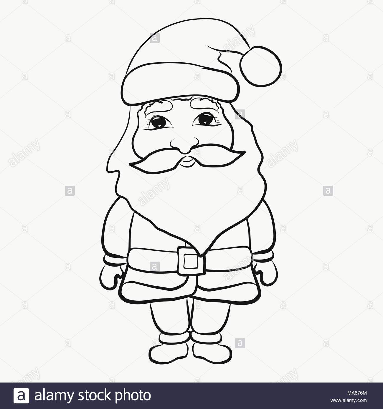 Children S Coloring Funny Santa Claus Stock Photo 178387628 Alamy