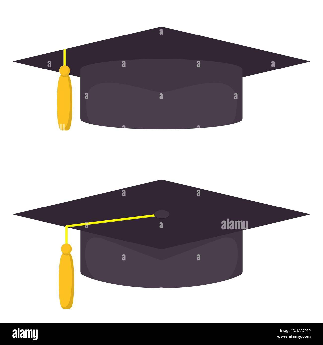 Graduation Cap Vector Vectors Stock Photos & Graduation Cap Vector ...