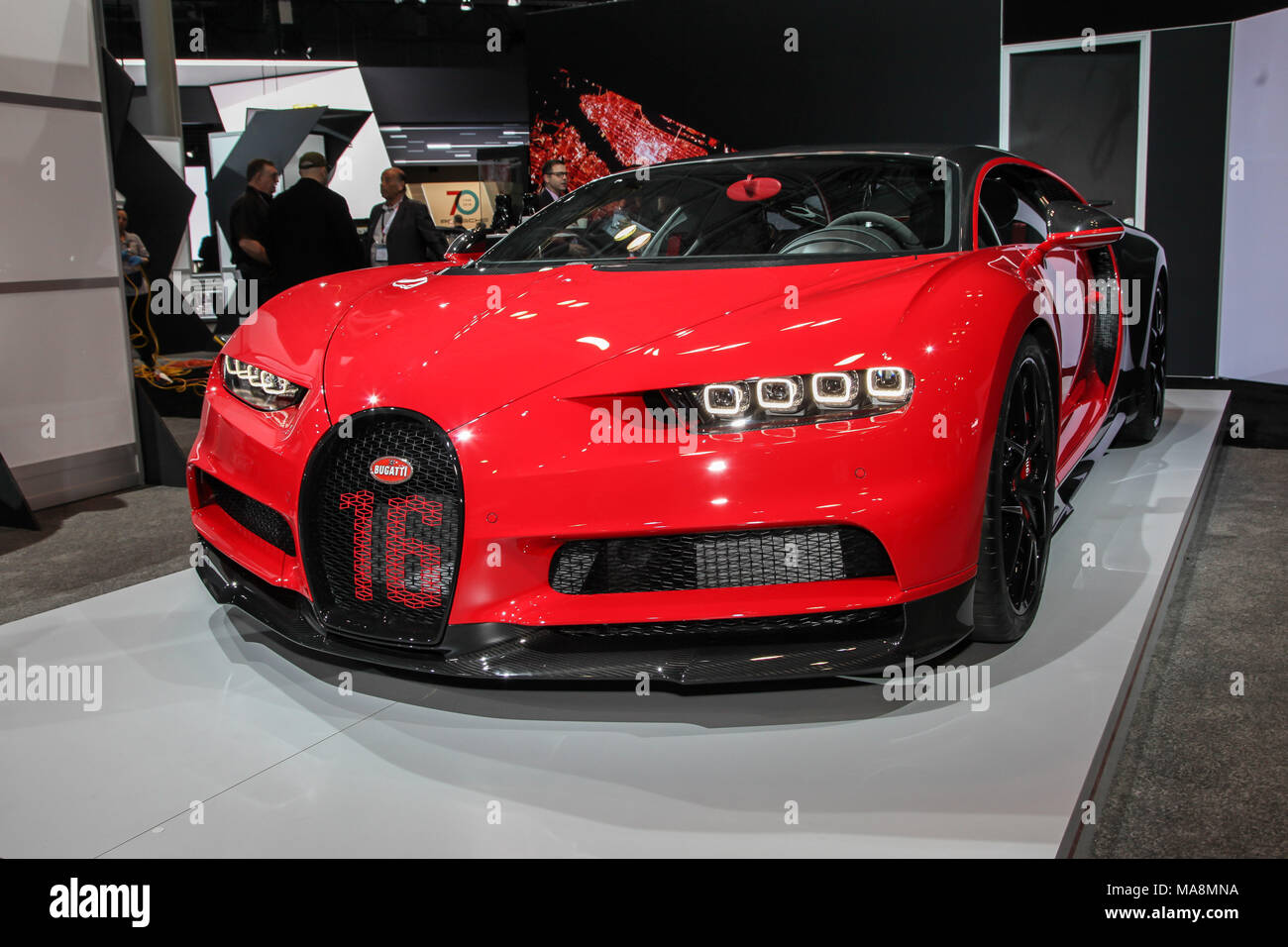 NEW YORK CITYMARCH Bugatti Chiron Sport Showed At The New York - Jacob javits center car show 2018