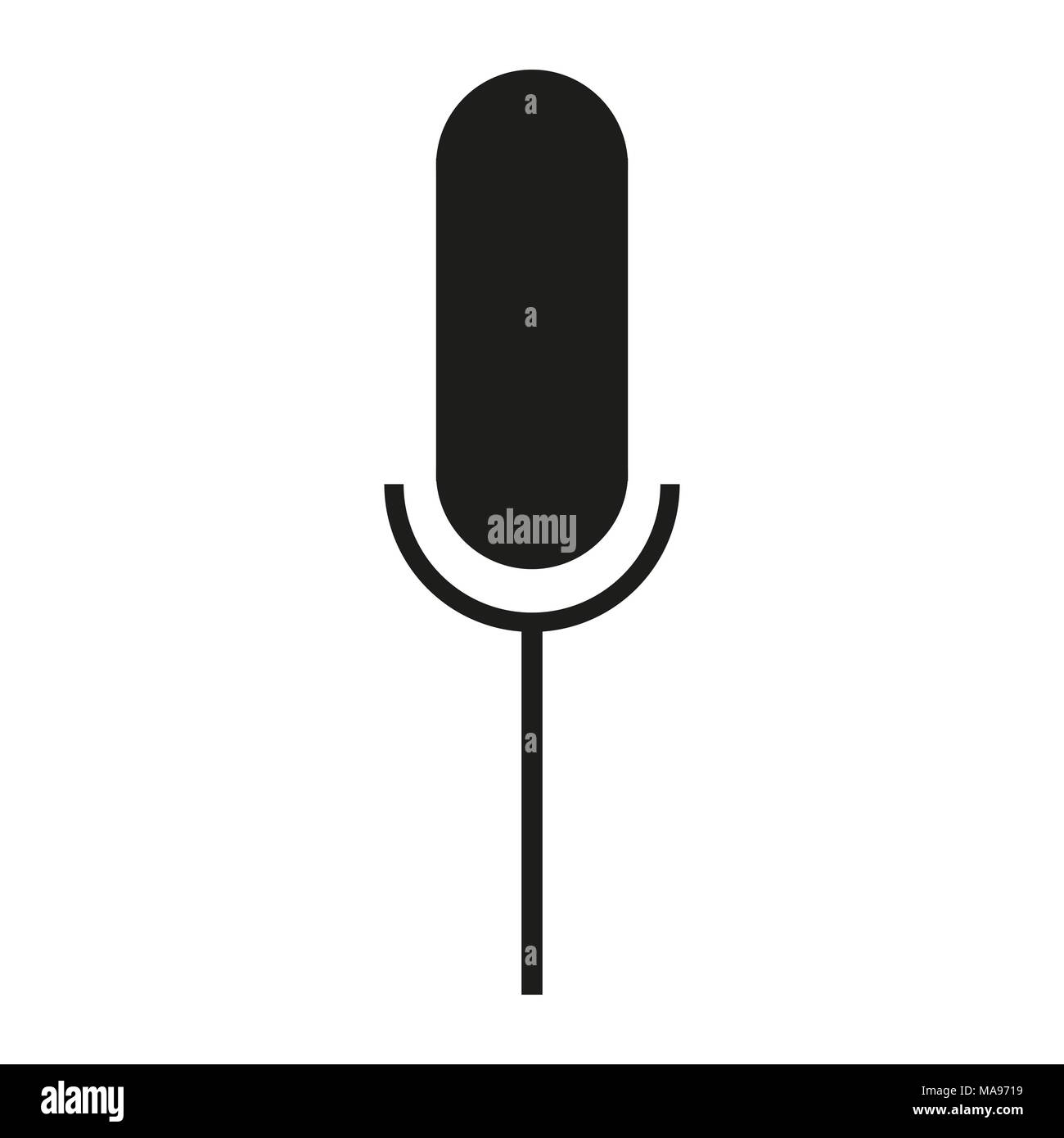 Black Icon Microphone Symbol Stock Vector Art Illustration Vector
