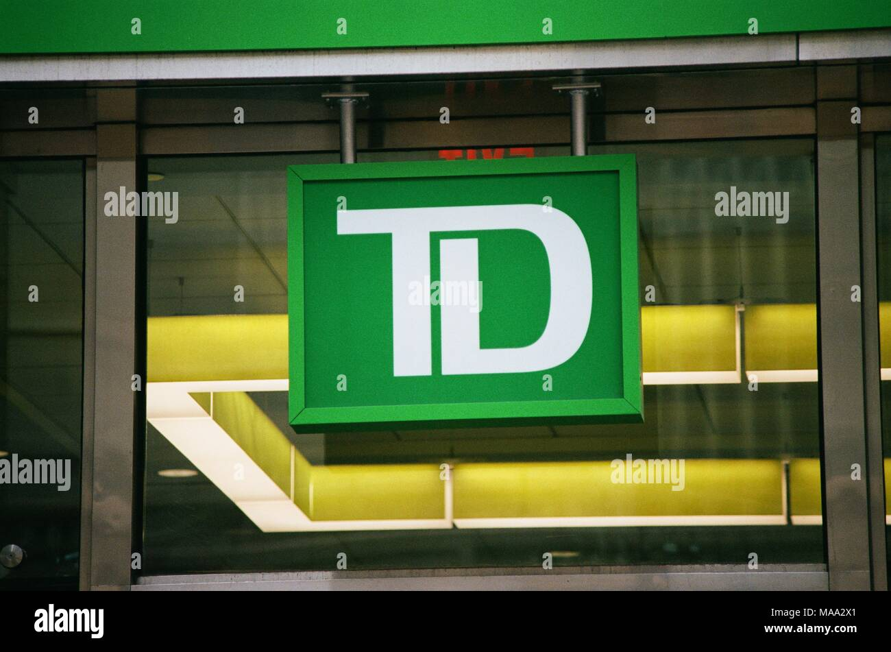 Close Up Of Logo For The Financial Services Company Td Ameritrade In