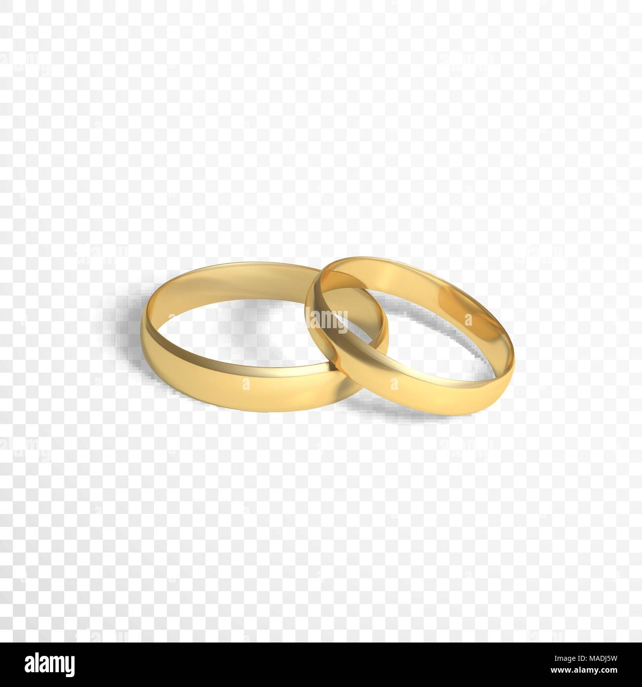 Golden Rings Symbol Of Marriage Two Gold Vector Illustration Isolated On Transparent Background: Wedding Ring Without Background At Websimilar.org