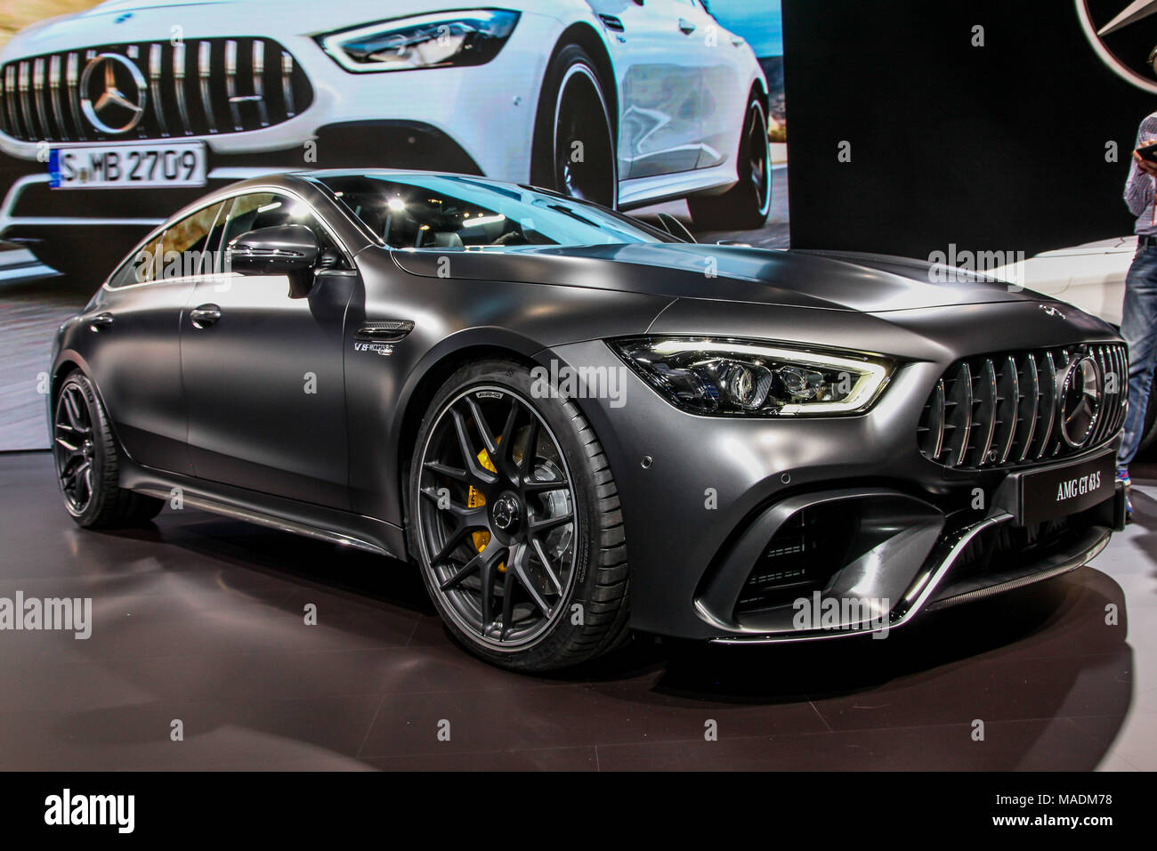 NEW YORK CITYMARCH Mercedes AMG GT S Shown At The New York - Car show 2018 nyc