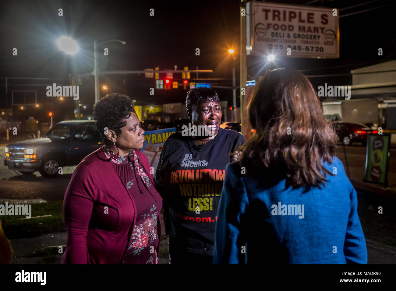 Baton Rouge, United States. 30th Mar, 2018. Baton Rouge Police Chief Murphy Paul announced that officer Blane Salamoni had been fired after an internal investigation determined that he violated use of force and command of temper policies in fatally shooting Sterling outside of a Baton Rouge store in July 2016. Credit: Michael Nigro/Pacific Press/Alamy Live News - Stock Image