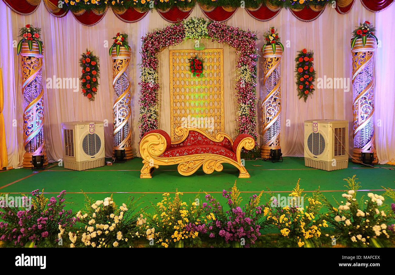 Indian Wedding Stage Decoration Stock Photo 178589346 Alamy